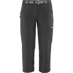 High Colorado Monte Pantaloni da trekking Capri Donna, black